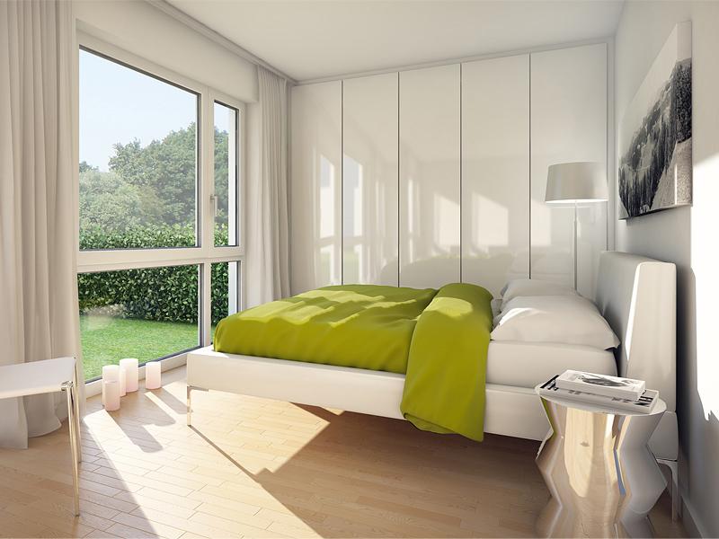 Immobilie VIVA WESTPARK - Illustration Schlafzimmer