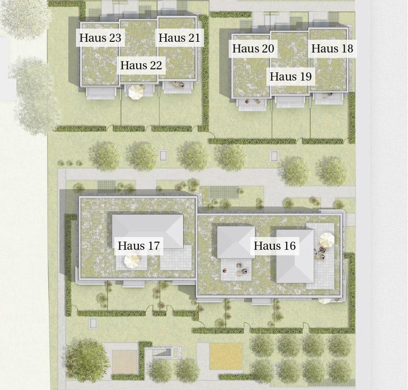 Immobilie Mein Aubing 3 - Lageplan Haus 16 - 23
