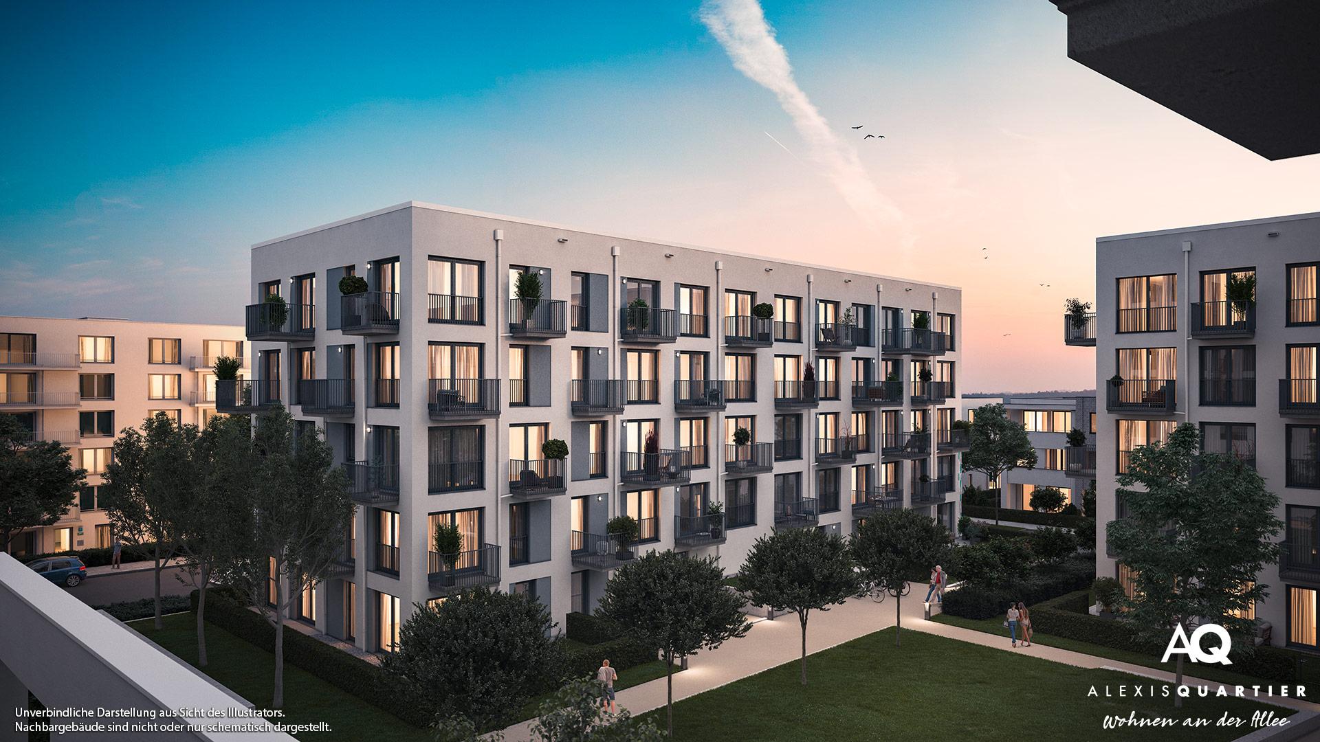 Immobilie Alexisquartier - Wohnen an der Allee - Illustration 8