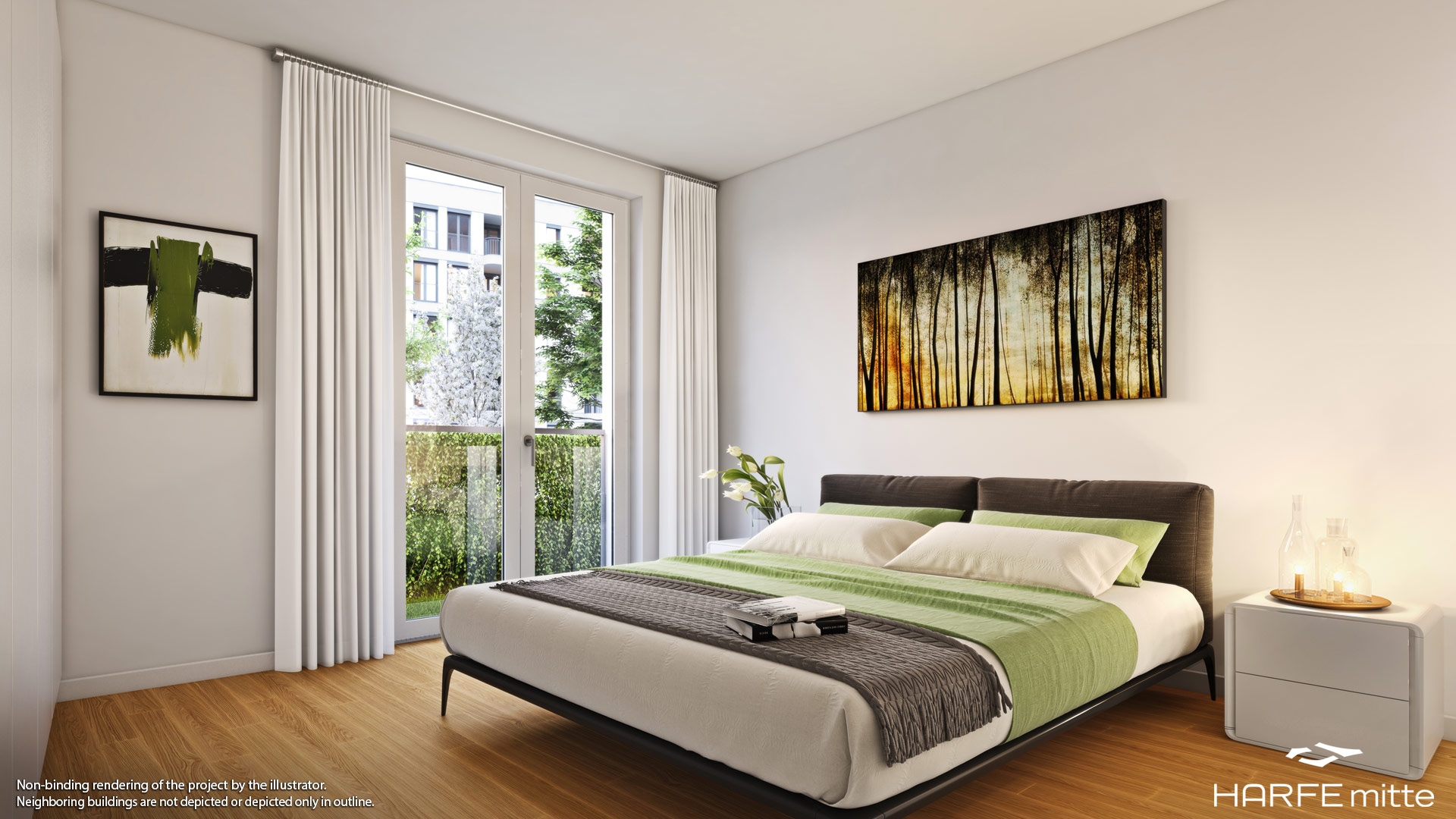 Property HARFE mitte - example illustration bedroom