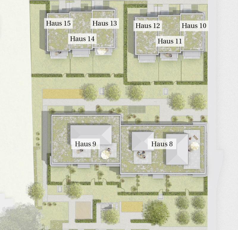Immobilie Mein Aubing 3 - Lageplan Haus 8 - 15
