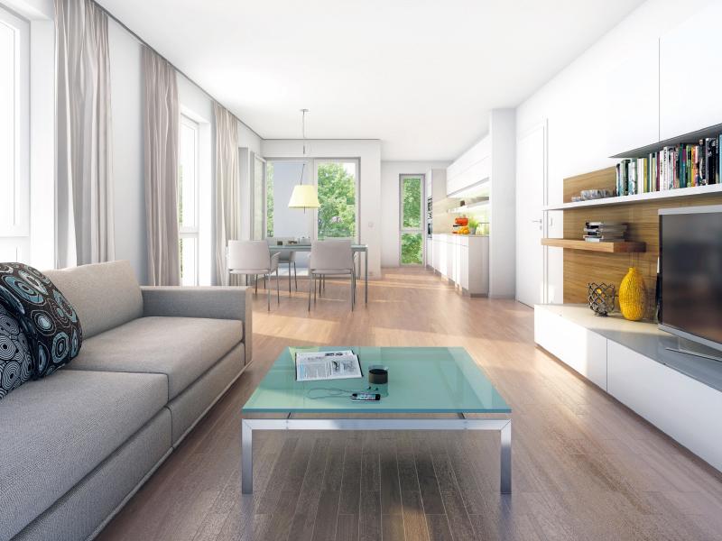 Immobilie NEUE GÄRTEN GIESING II - Illustration Wohnzimmer 2