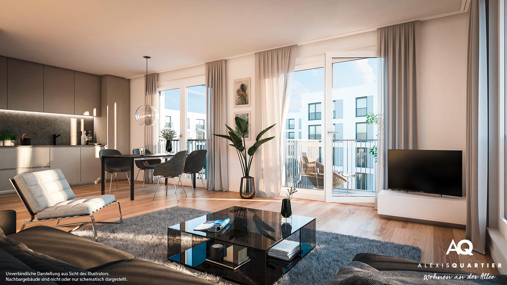 Immobilie Alexisquartier - Wohnen an der Allee - Illustration 9