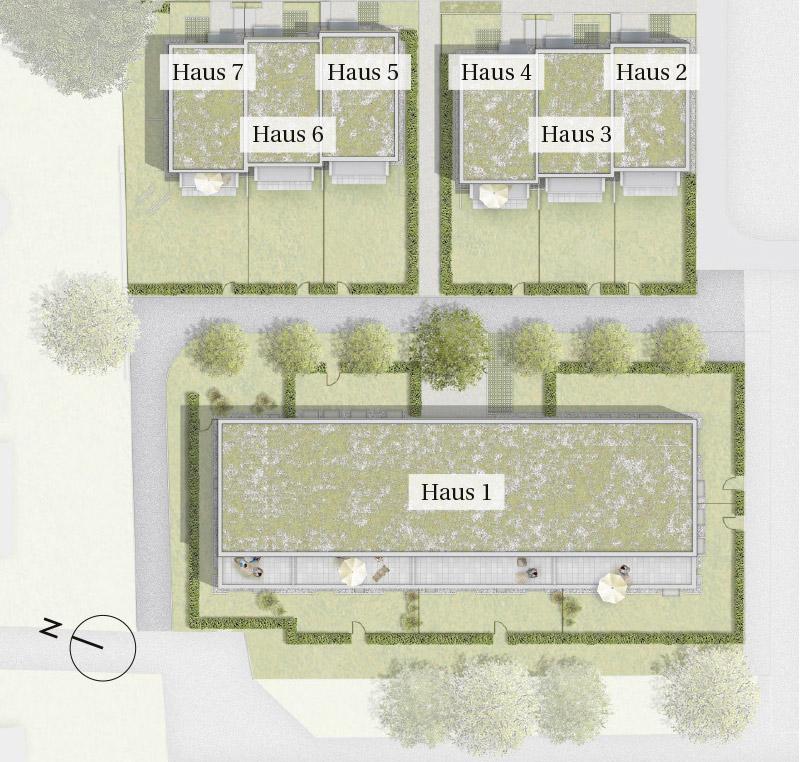 Immobilie Mein Aubing 3 - Lageplan Haus 1 - 7