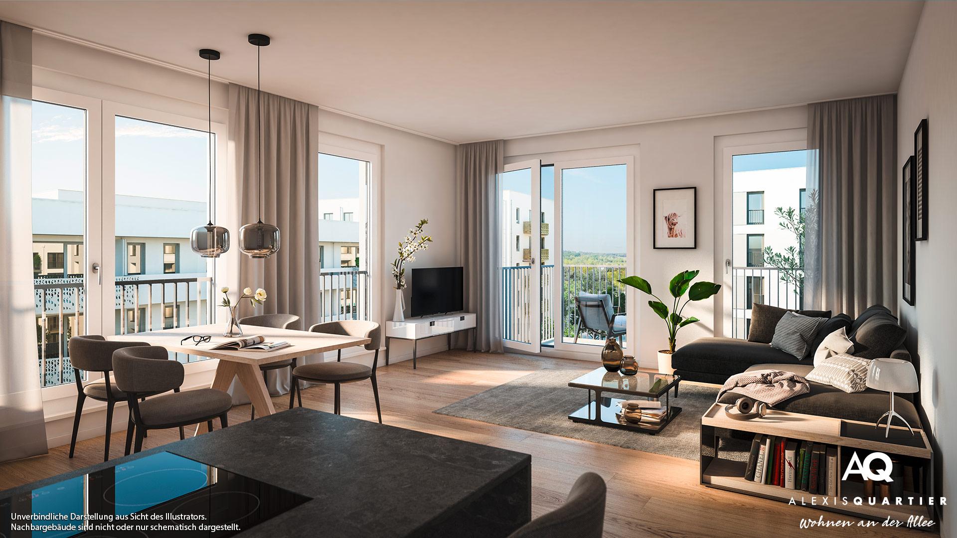 Immobilie Alexisquartier - Wohnen an der Allee - Illustration 10