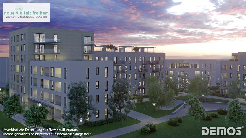 """Wohnen im neuen Stadtquartier: Jetzt Verkaufsstart von """"NEUE VIELFALT FREIHAM"""""""