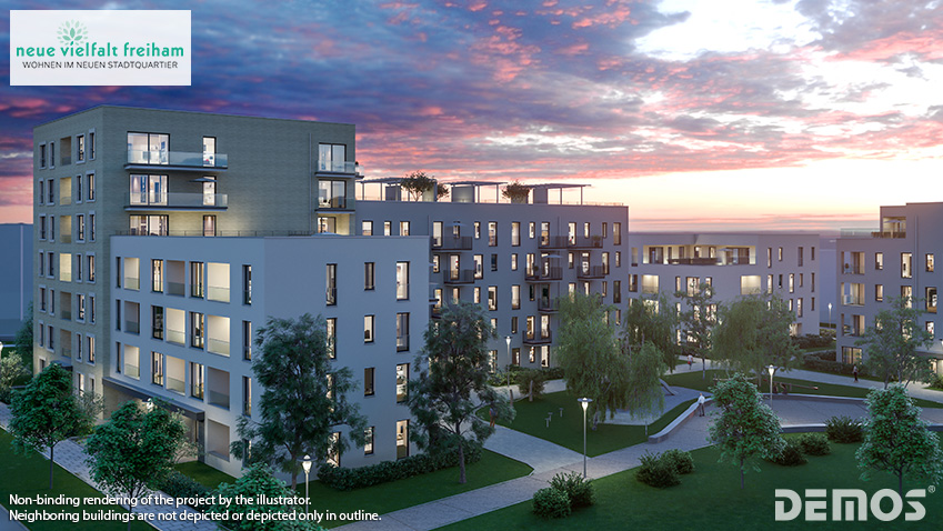"Living in a new urban quarter: The sales launch of ""NEUE VIELFALT FREIHAM"" is kicking off"