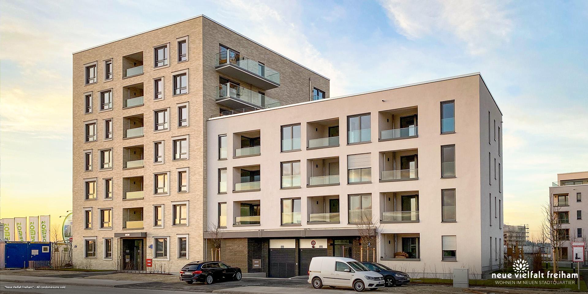 'Neue Vielfalt Freiham' in Munich-Freiham: All condominiums sold