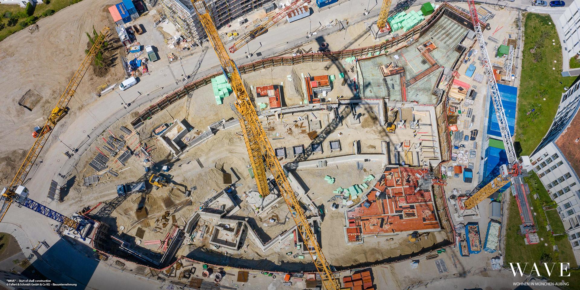 'WAVE' in Munich-Aubing: Start of structural work