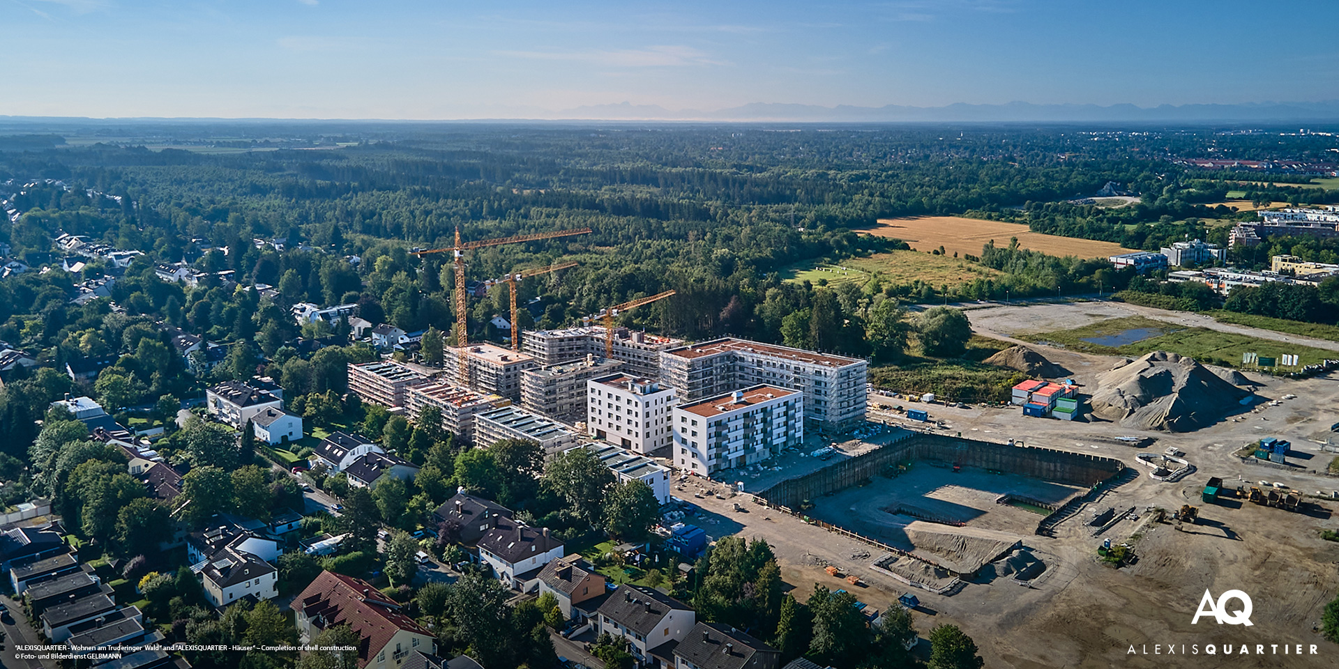 'ALEXISQUARTIER' in Munich-Perlach: Completion of shell construction