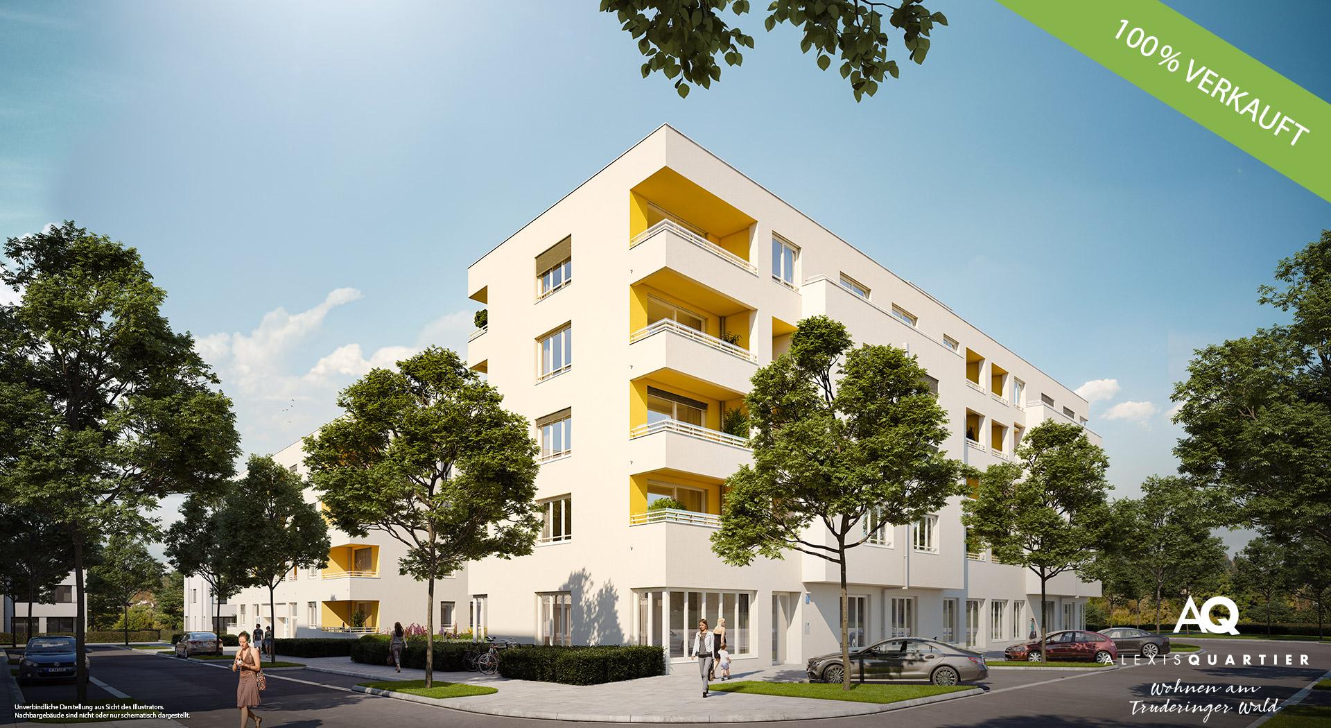 """""""ALEXISQUARTIER – Wohnen am Truderinger Wald"""" in München-Perlach: Alle Wohnungen verkauft"""