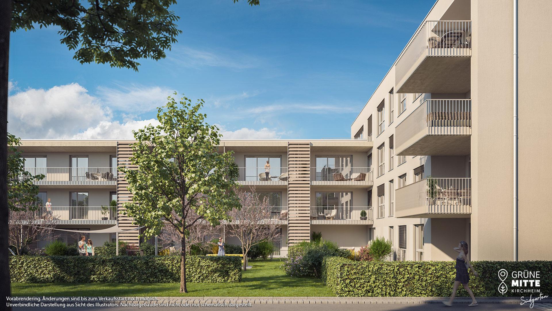 Immobilie Grüne Mitte Kirchheim - Suedgarten - Vorankündigung - Illustration 1