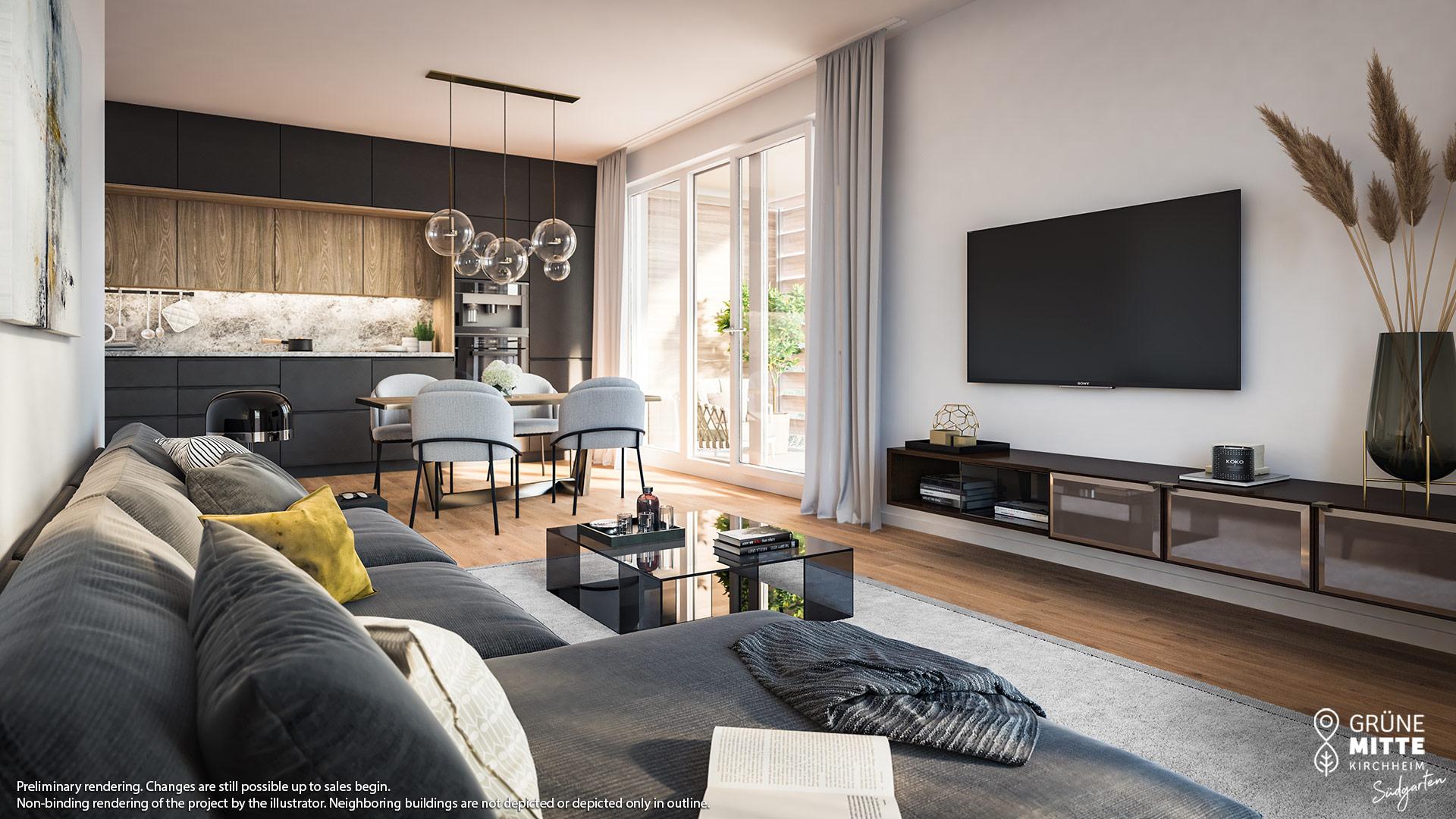 Property Gruene Mitte Kirchheim - Suedgarten - Preannouncement - Illustration 4