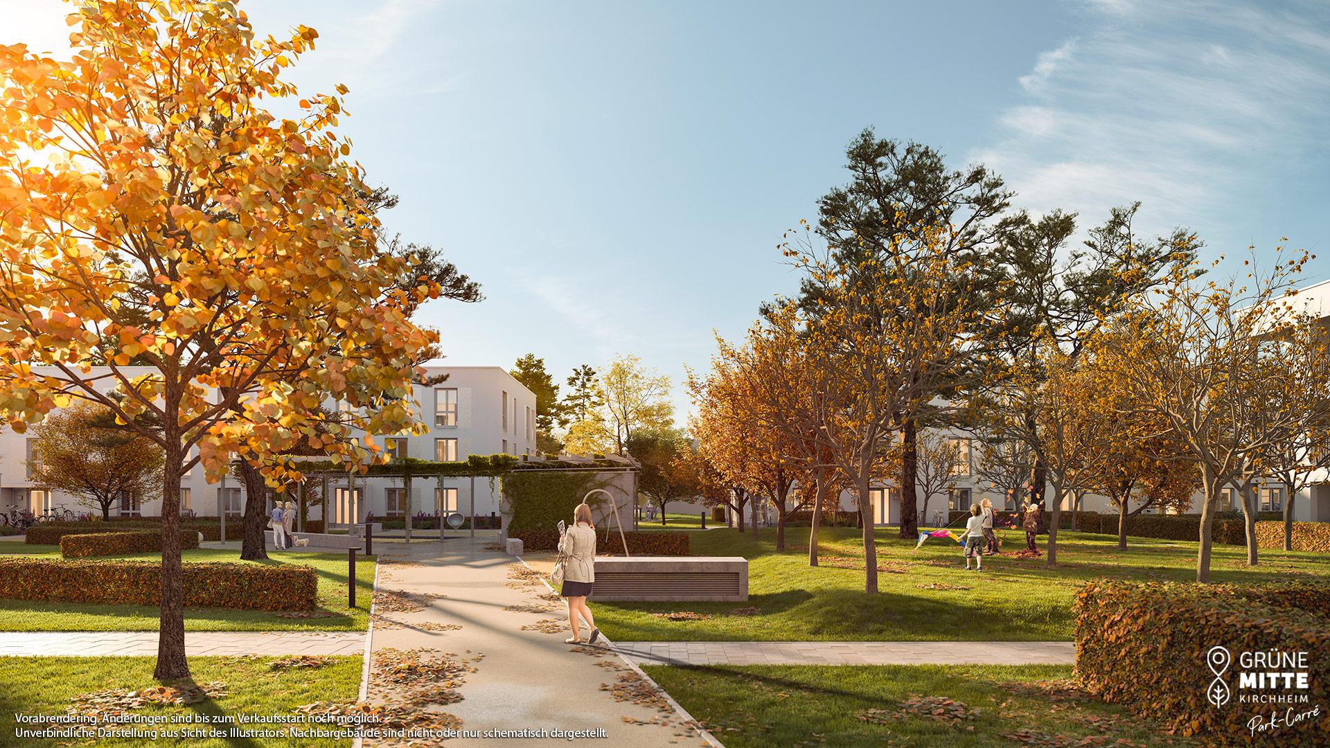 Immobilie Grüne Mitte Kirchheim - Park-Carré - Vorankündigung - Illustration 2