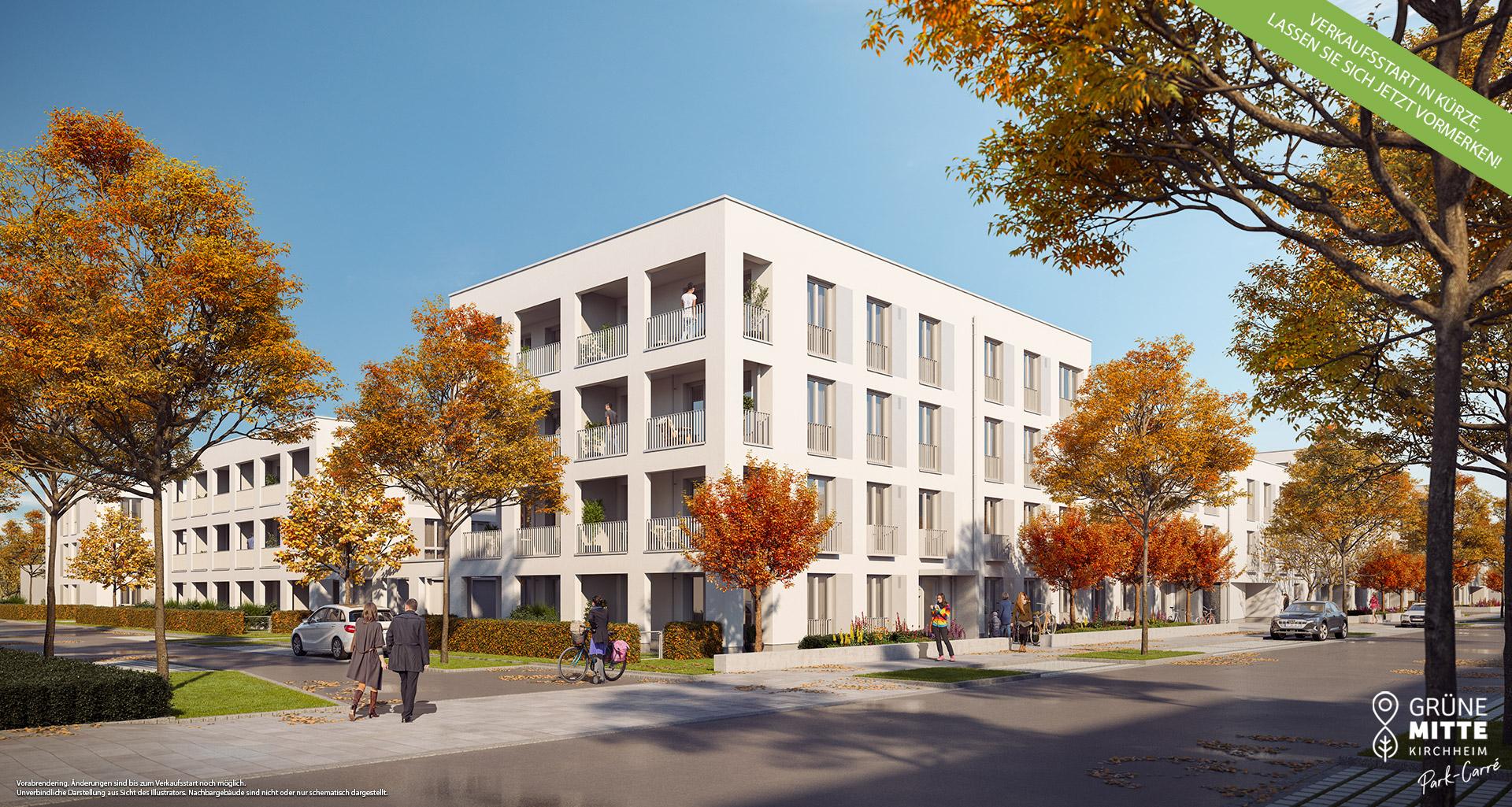 Eigentumswohnungen Kirchheim bei München: Grüne Mitte Kirchheim - Park-Carré