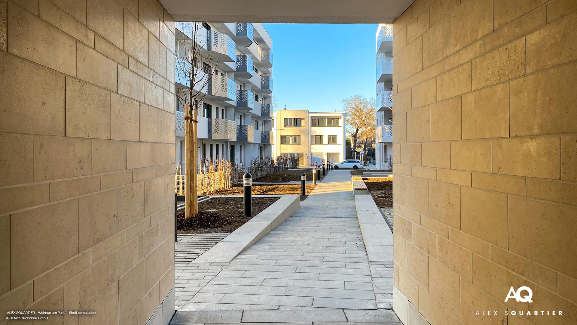 'ALEXISQUARTIER – Wohnen am Park' in Munich-Perlach: Shell completion