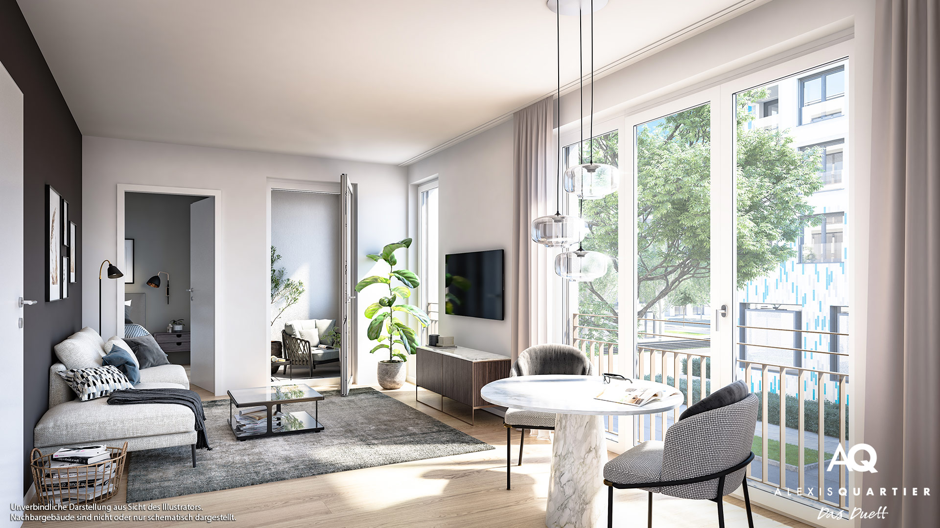 Immobilie Alexisquartier - Das Duett - Illustration 8