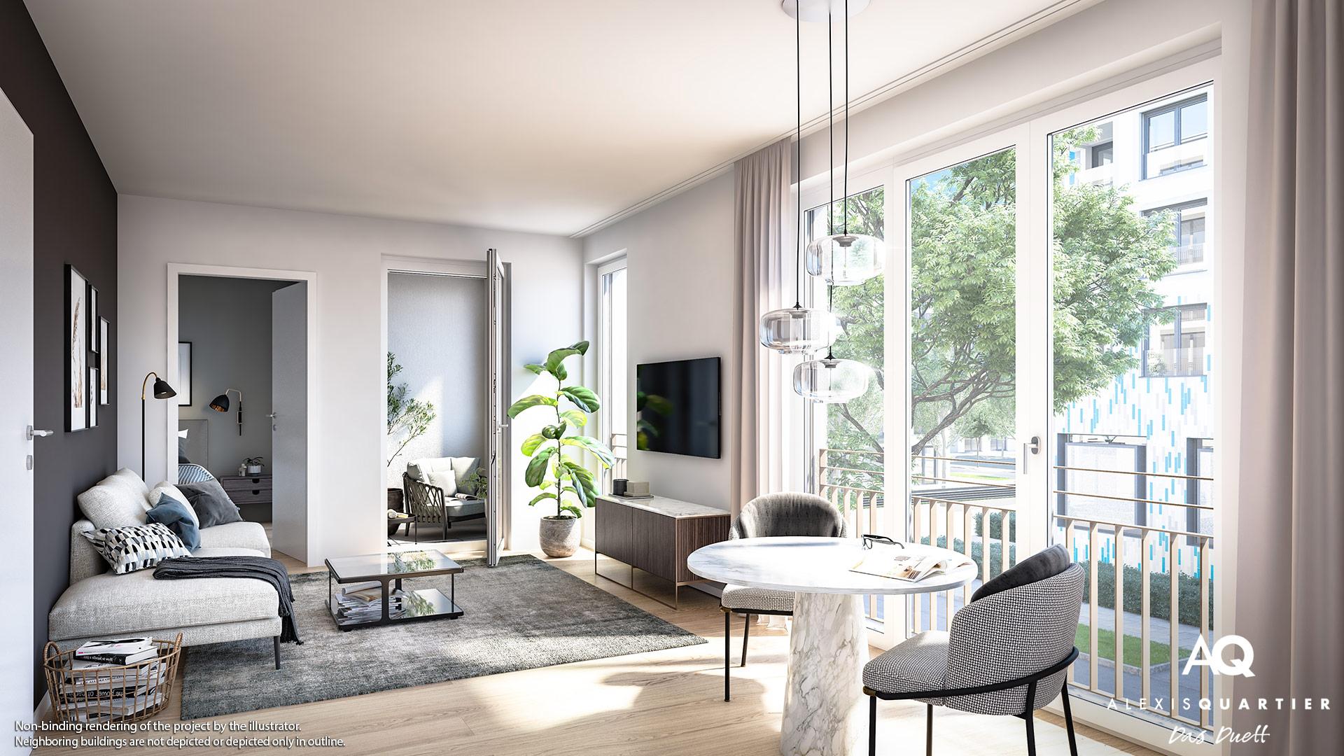 Condominiums Alexisquartier - Das Duett - Illustration 8