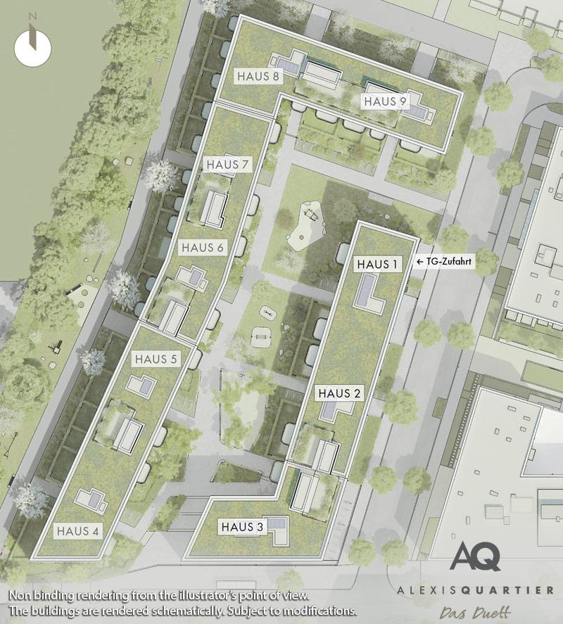 Condominiums Alexisquartier - Das Duett - Site plan 2