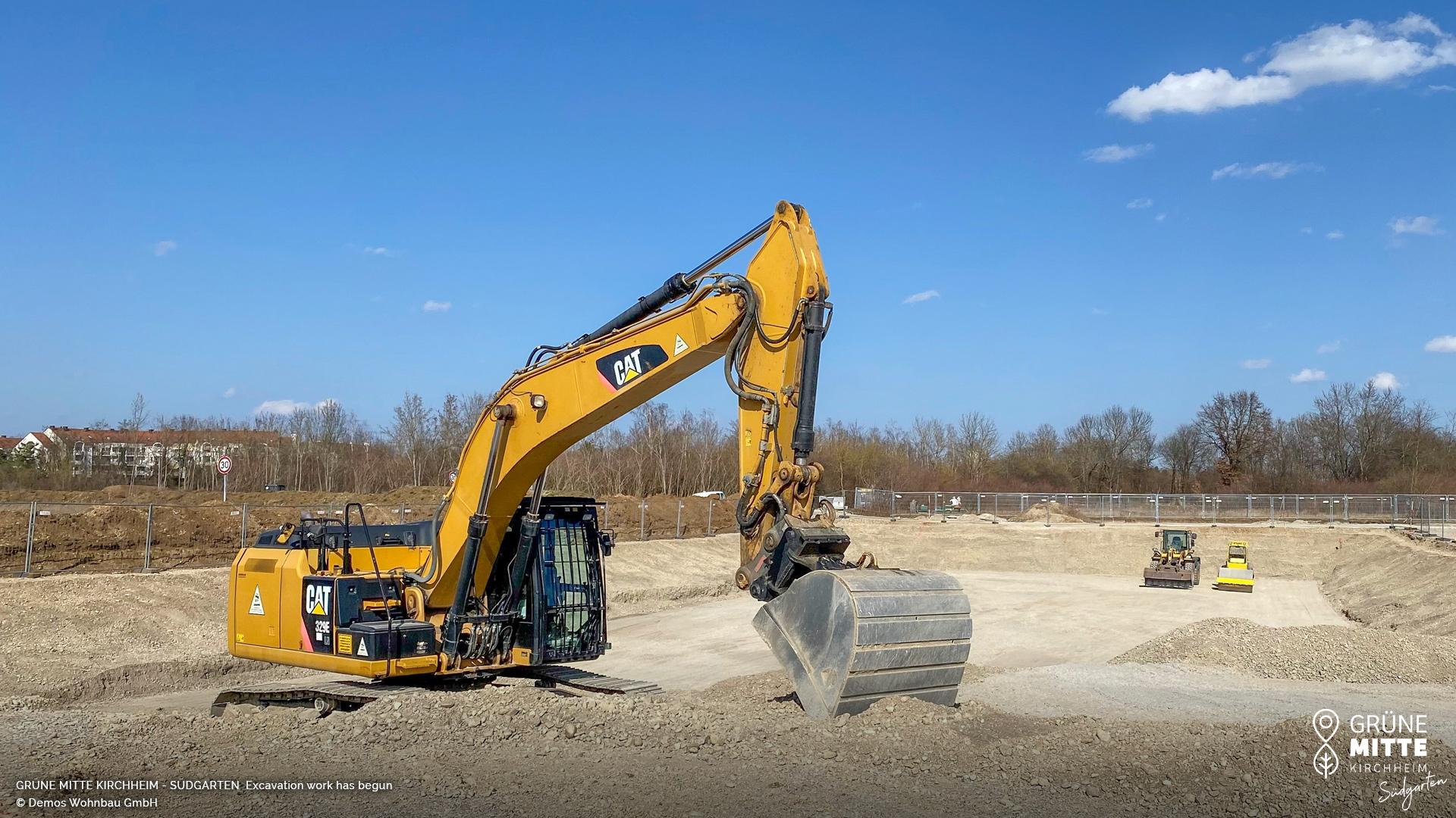 'GRÜNE MITTE KIRCHHEIM - Südgarten' in Kirchheim near Munich: Excavation work has begun