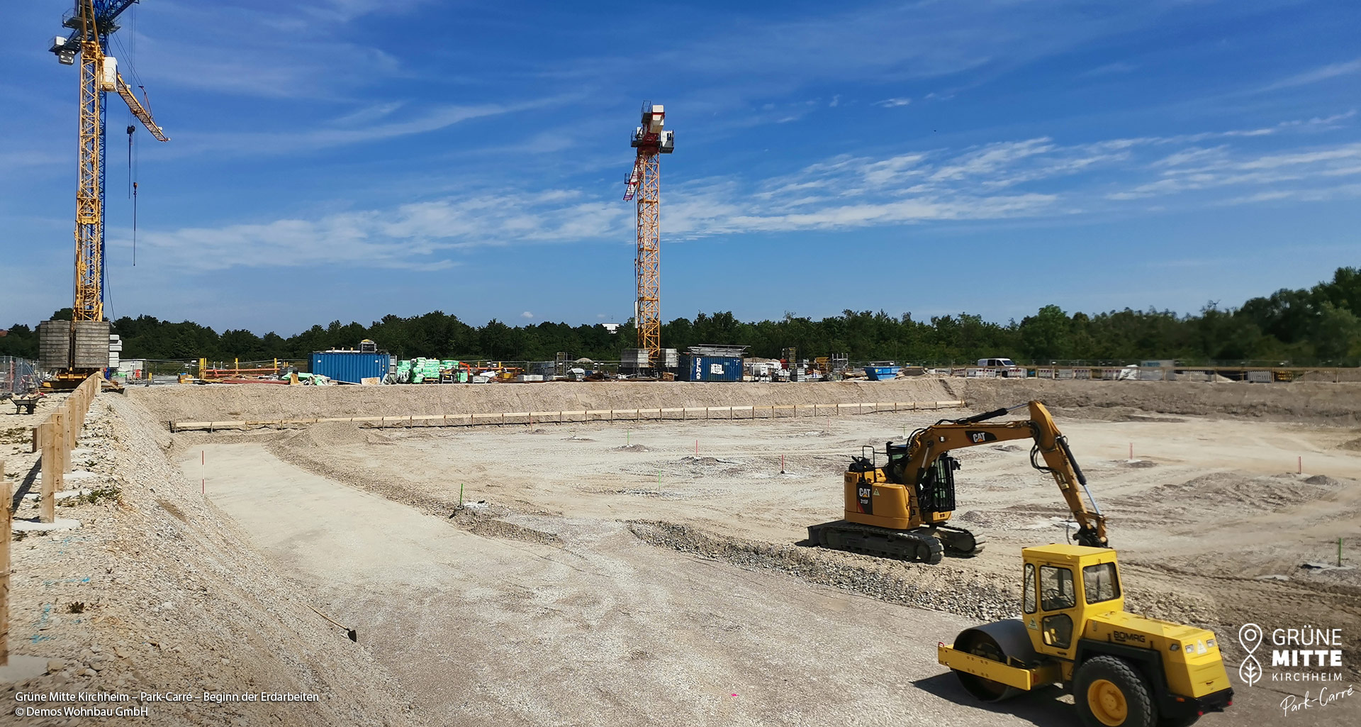 'GRÜNE MITTE KIRCHHEIM - Park Carré' in Kirchheim bei München: Beginn der Erdarbeiten
