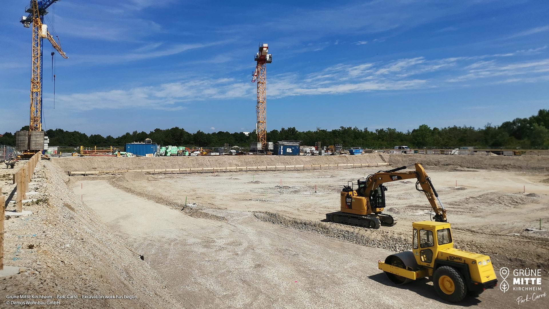 'GRÜNE MITTE KIRCHHEIM - Park Carré' in Kirchheim near Munich: Construction work has begun