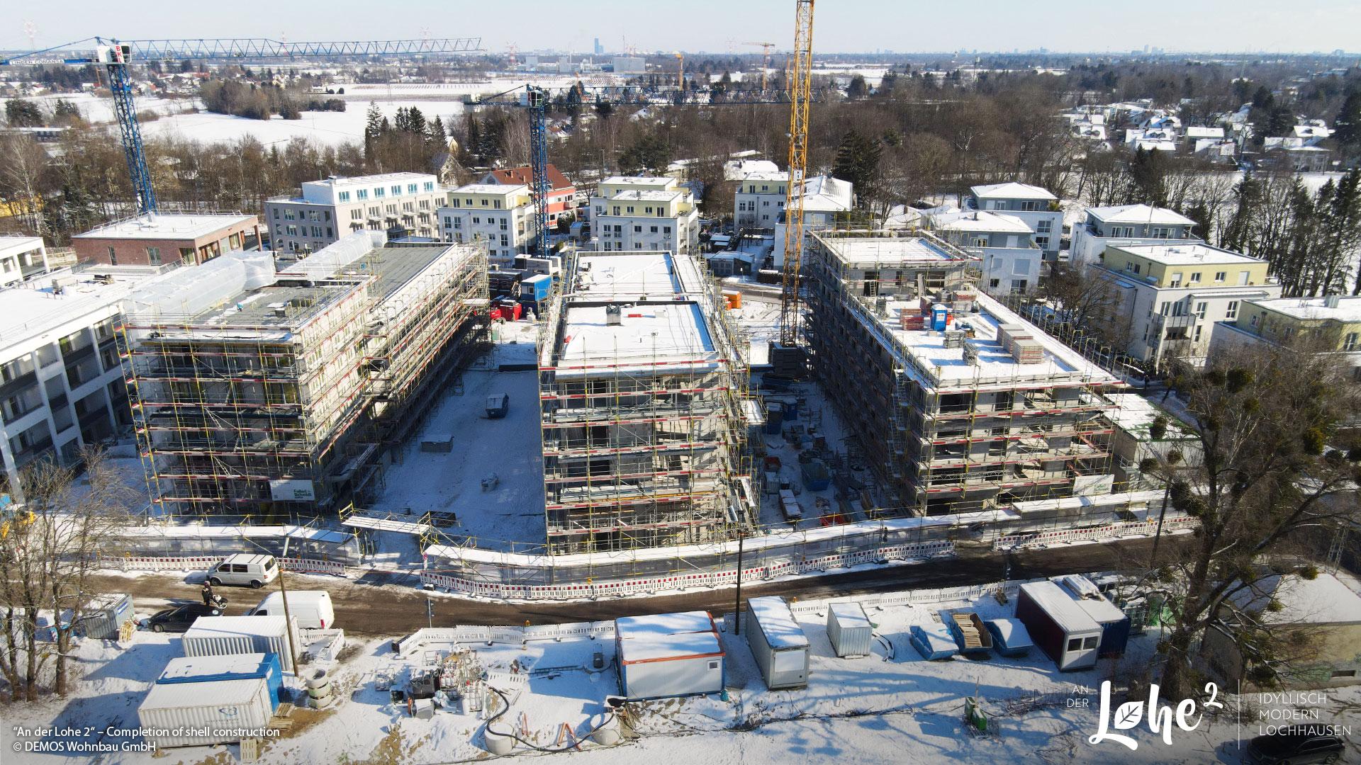 """""""AN DER LOHE 2"""" in Munich-Lochhausen: Shell completion"""