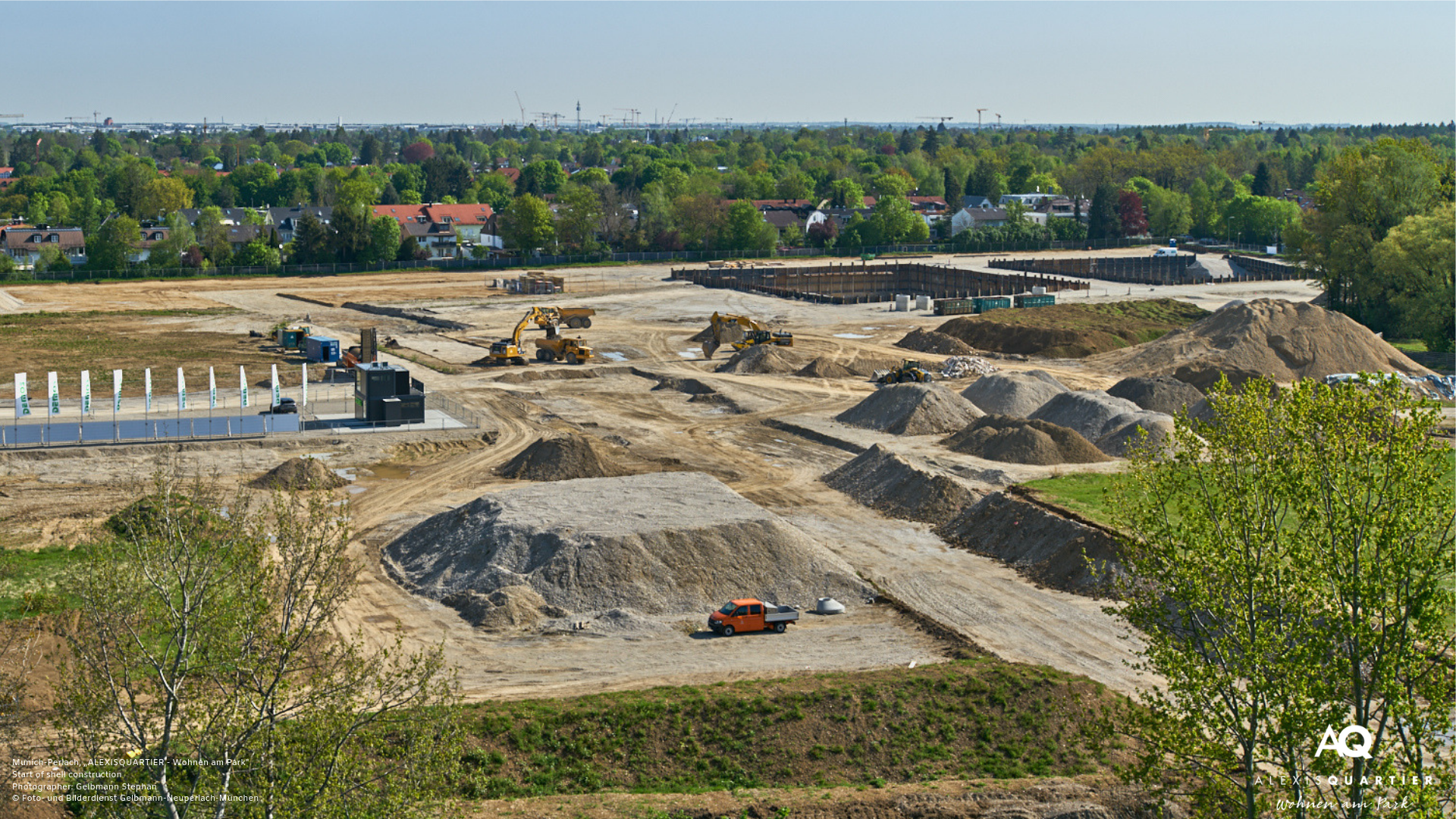 'ALEXISQUARTIER – Wohnen am Park' in Munich-Perlach: Start of shell construction