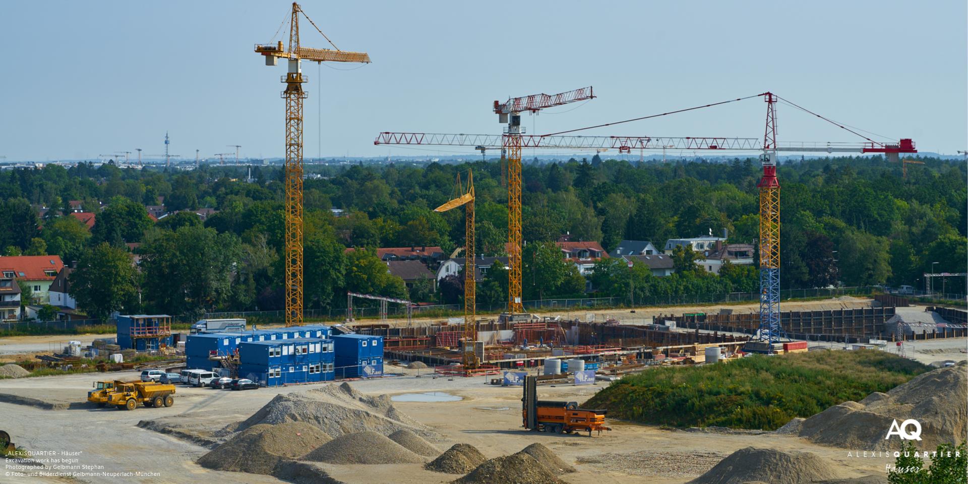 'ALEXISQUARTIER - Häuser' in Munich-Perlach: Earthworks start