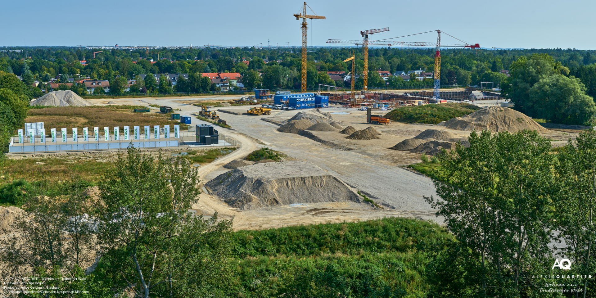 'ALEXISQUARTIER – Wohnen am Truderinger Wald' in Munich-Perlach: Excavation work has begun