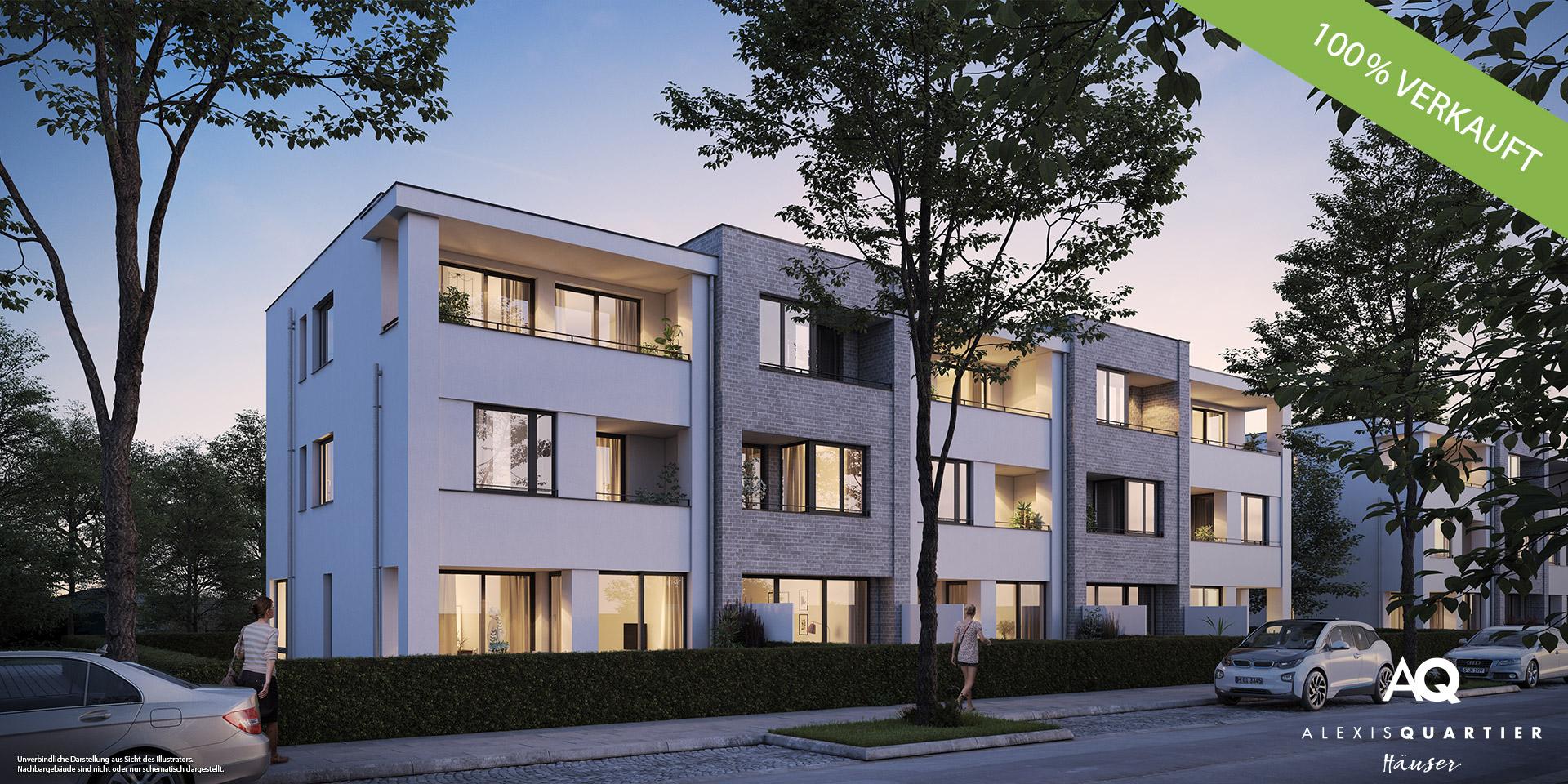 """""""ALEXISQUARTIER – Häuser"""" in München-Perlach: Alle Häuser verkauft"""