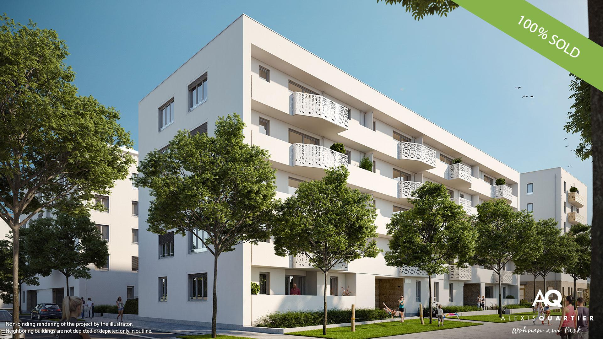 'ALEXISQUARTIER – Wohnen am Park' in Munich-Perlach: All condominiums sold