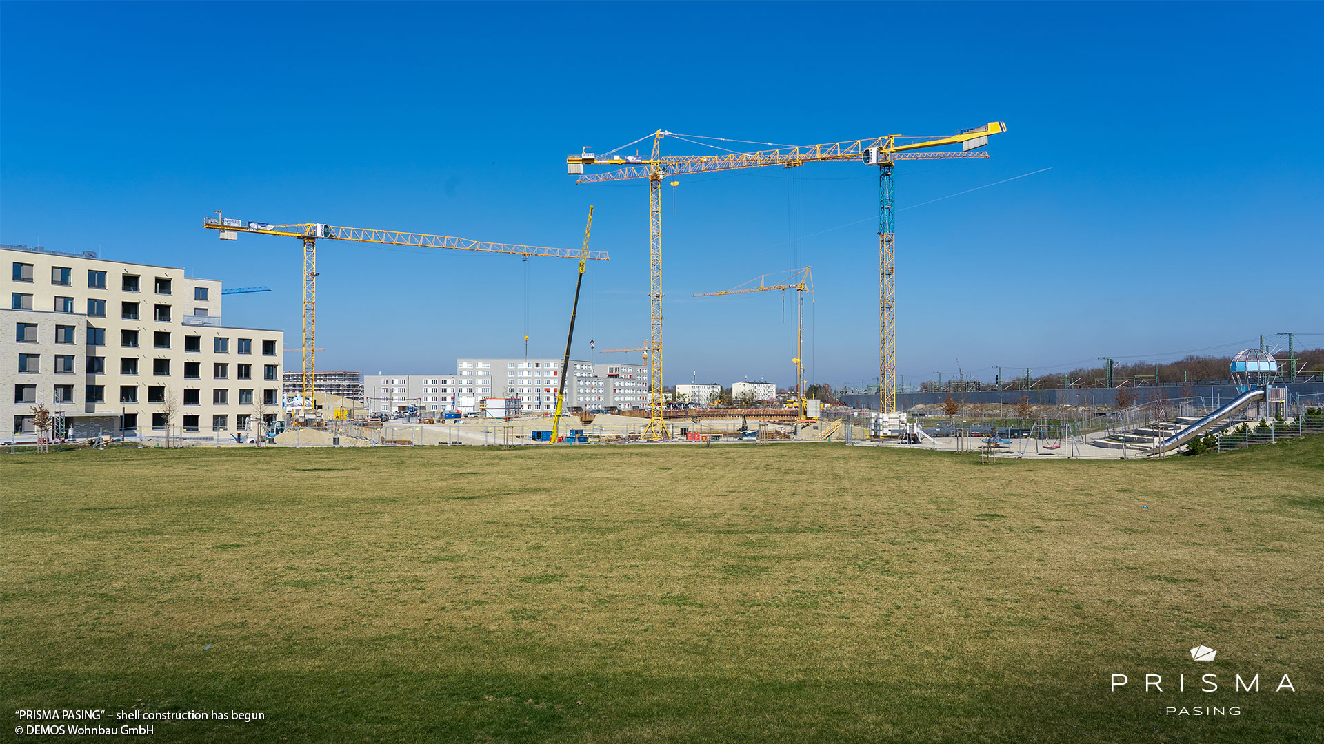 'PRISMA PASING' in Pasing-Obermenzing: Shell construction work has begun