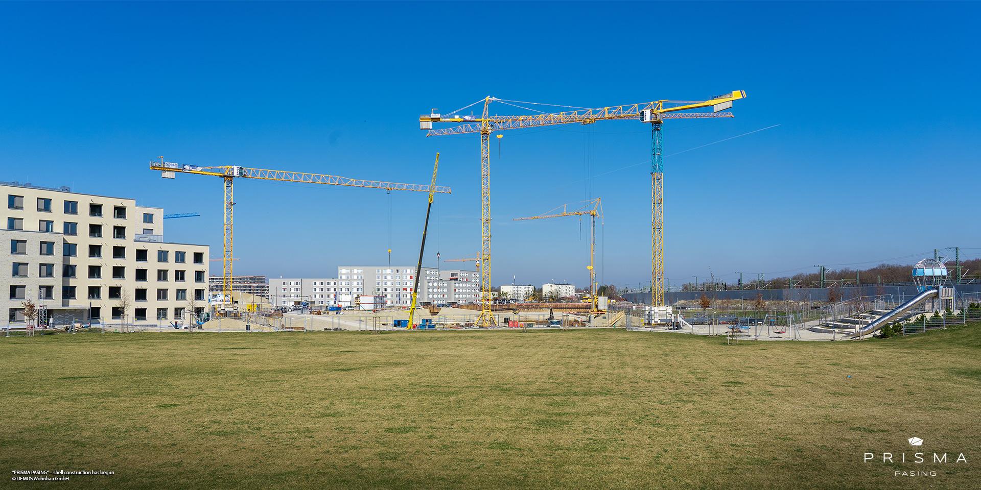 'PRISMA PASING' in Pasing-Obermenzing: Shell construction work has begun