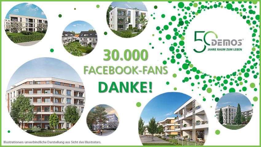 DEMOS sagt Danke für 30.000 Facebook-Fans