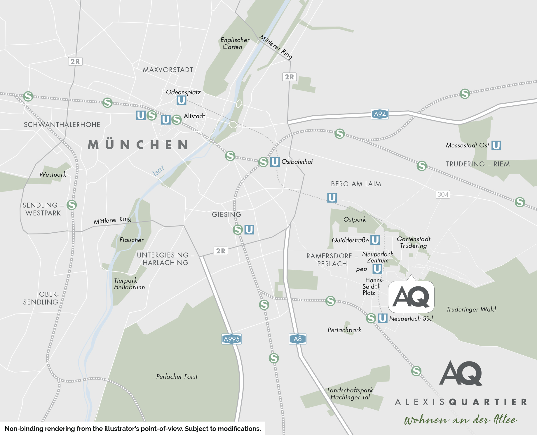 Property Alexisquartier - Wohnen an der Allee - section of city map 1