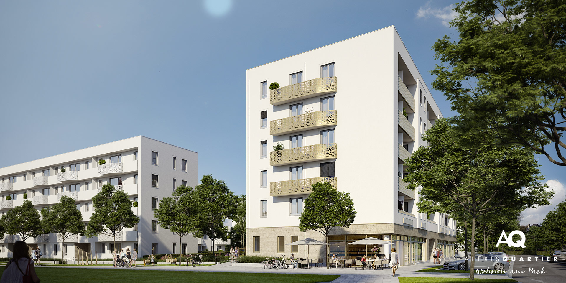 Commercial units munich: Alexisquartier - Wohnen am park
