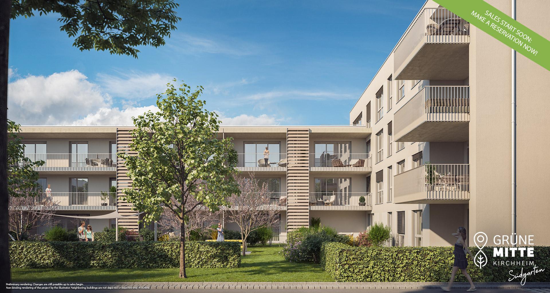 Condominiums Kirchheim near Munich: Gruene Mitte Kirchheim - Suedgarten