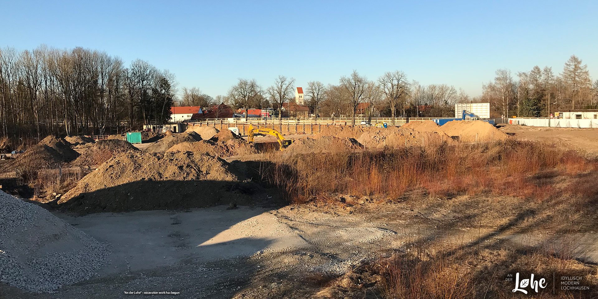 """An der Lohe"" in Munich-Lochhausen: excavation work has begun"
