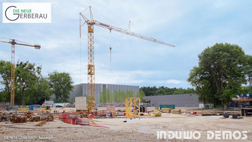 DIE NEUE GERBERAU in München Allach – Bild von der Baustelle - Baubeginn erfolgt