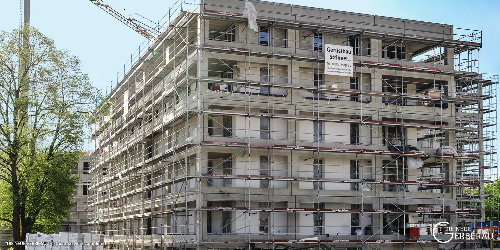 """DIE NEUE GERBERAU"" in Munich-Allach: Structural work completed"