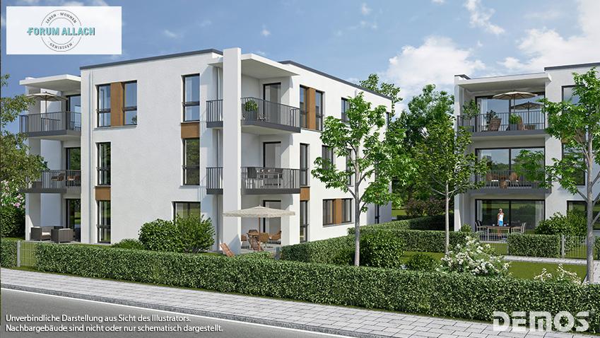 Verkaufsstart der Häuser 6 bis 8 aus dem 1. Verkaufsabschnitt im FORUM ALLACH in Allach-Untermenzing