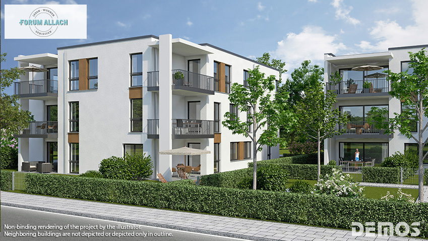 "Sales start for buildings 6 - 8 from the 1st sales tranche for ""FORUM ALLACH"" in Allach-Untermenzing"