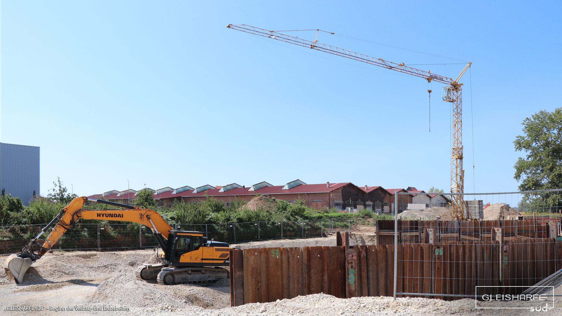 """""""GLEISHARFE süd"""" in München-Neuaubing: Jetzt Beginn der Verbau- und Erdarbeiten"""