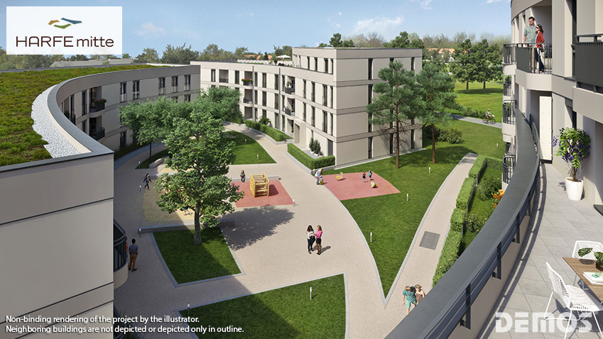 "Sales start for ""HARFE mitte"": new homes in Neuaubing"