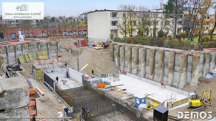"""""""Irma-Uhrbach-Carré"""" in Perlach-Süd: Jetzt Beginn der Rohbauarbeiten!"""