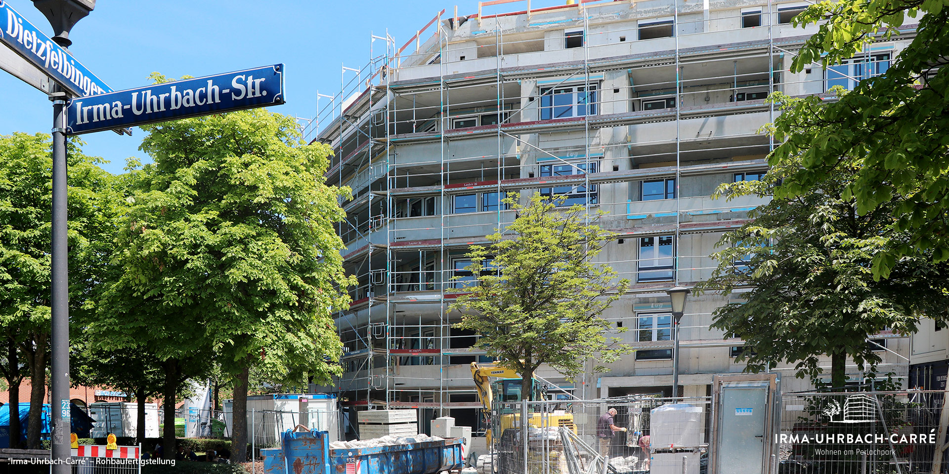 """Irma-Uhrbach-Carré"" in München-Perlach-Süd: Rohbaufertigstellung"