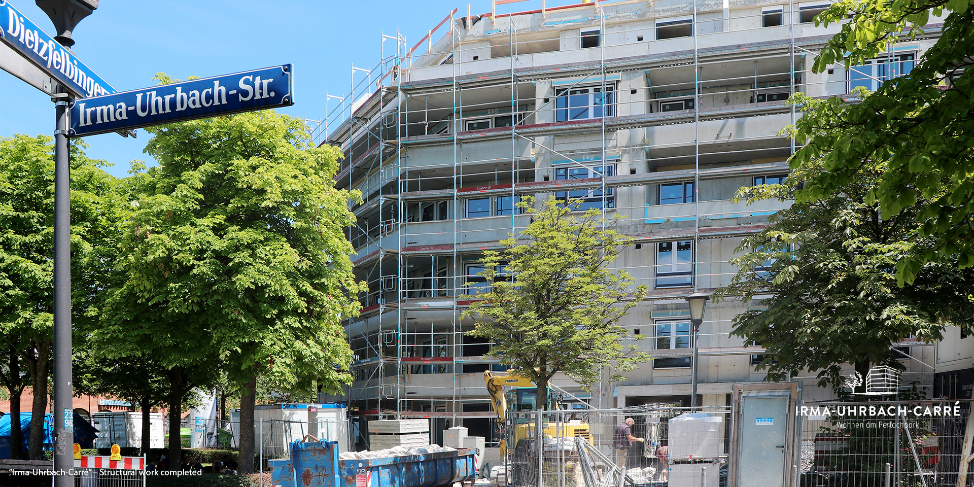 """""""Irma-Uhrbach-Carré"""" in Munich's Perlach Süd district: Structural work completed"""