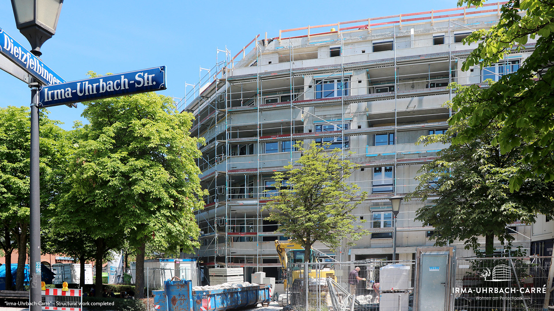"""Irma-Uhrbach-Carré"" in Munich's Perlach Süd district: Structural work completed"