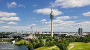Luftbild Olympiapark und Fernsehturm München